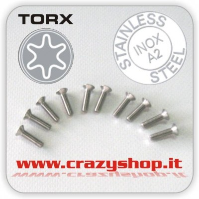 Viti Torx a Testa Svasata M5x25mm.