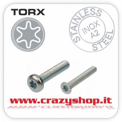 Vite Torx Testa Tronco Conica M4x12mm.