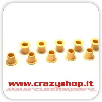 Boccole Gialle in Plastica 6mm.