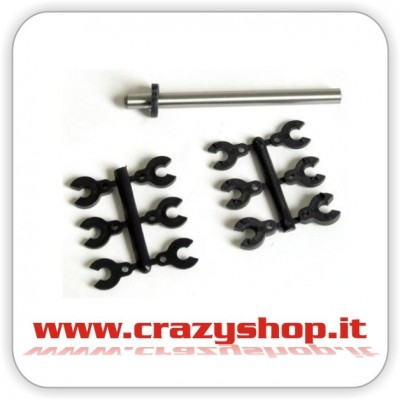 Clips Distanziali per Spine da 5mm.