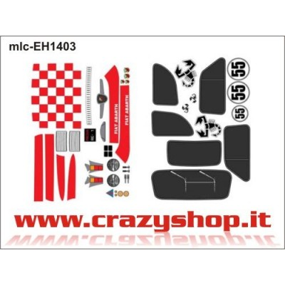 Kit Decals per 500 Abarth Old Completo