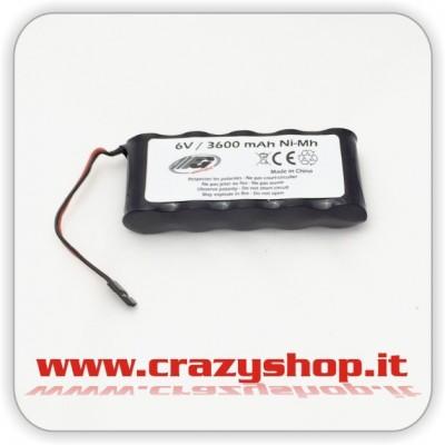 FG Pacco Batteria 6,0V Ni-Mh 3600mAh