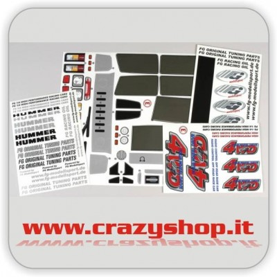 FG Set Stickers Hummer H2 2WD-4WD