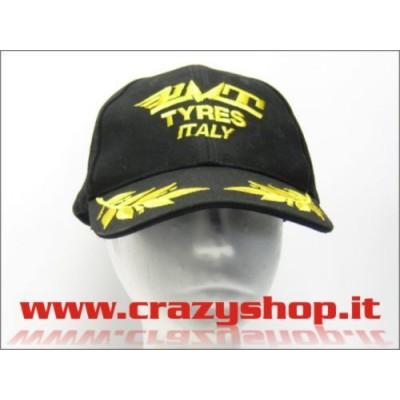 """Cappellino """"PMT Tyres Italy"""" Nero e Giallo"""