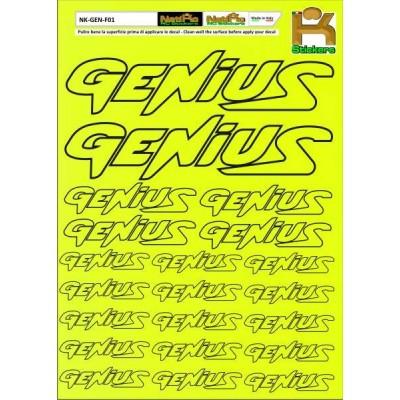 Logo Sponsor Giallo Fluo GENIUS