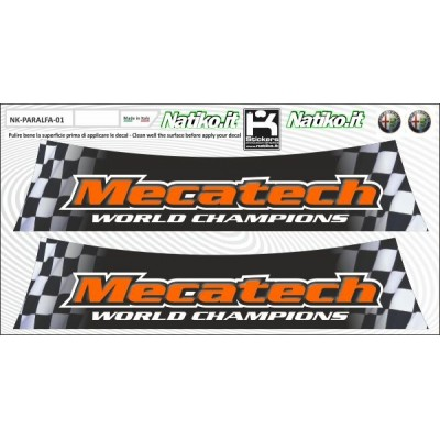 Mecatech - Set 2 Parasole Adesivo Fustellati