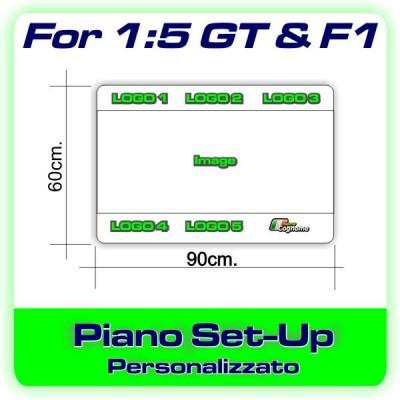 Adesivo Personalizzato per Piano Set-up 1:5