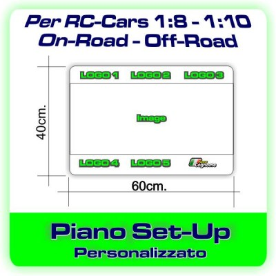 Piano Set-Up per Auto 1:8-1:10 PERSONALIZZATO