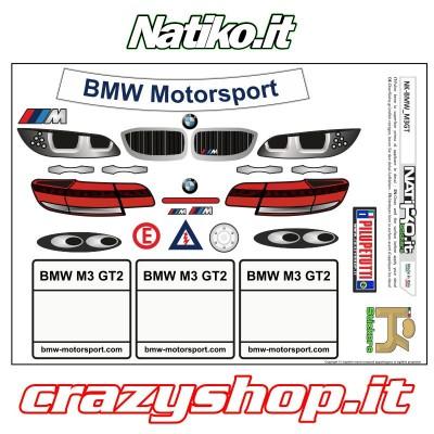 Foglio Adesivi per BMW M3 Superstars, Compresa Fanaleria