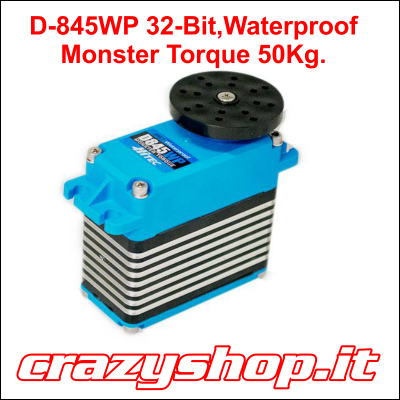 D-845WP 32-Bit, Monster Torque, Waterproof, Steel Gear Servo